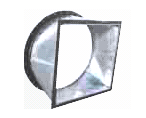 Rectangular to Round Transitions angle flange